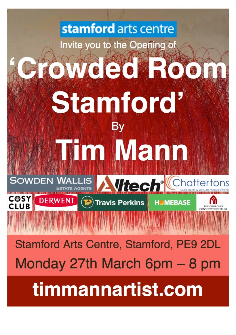 crowded room stamford Exhibition poster