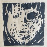 'Self' lino cut 2015