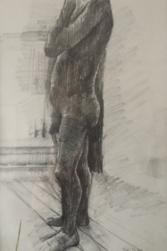 Nude study, Pencil on paper, 19 x 28 cm