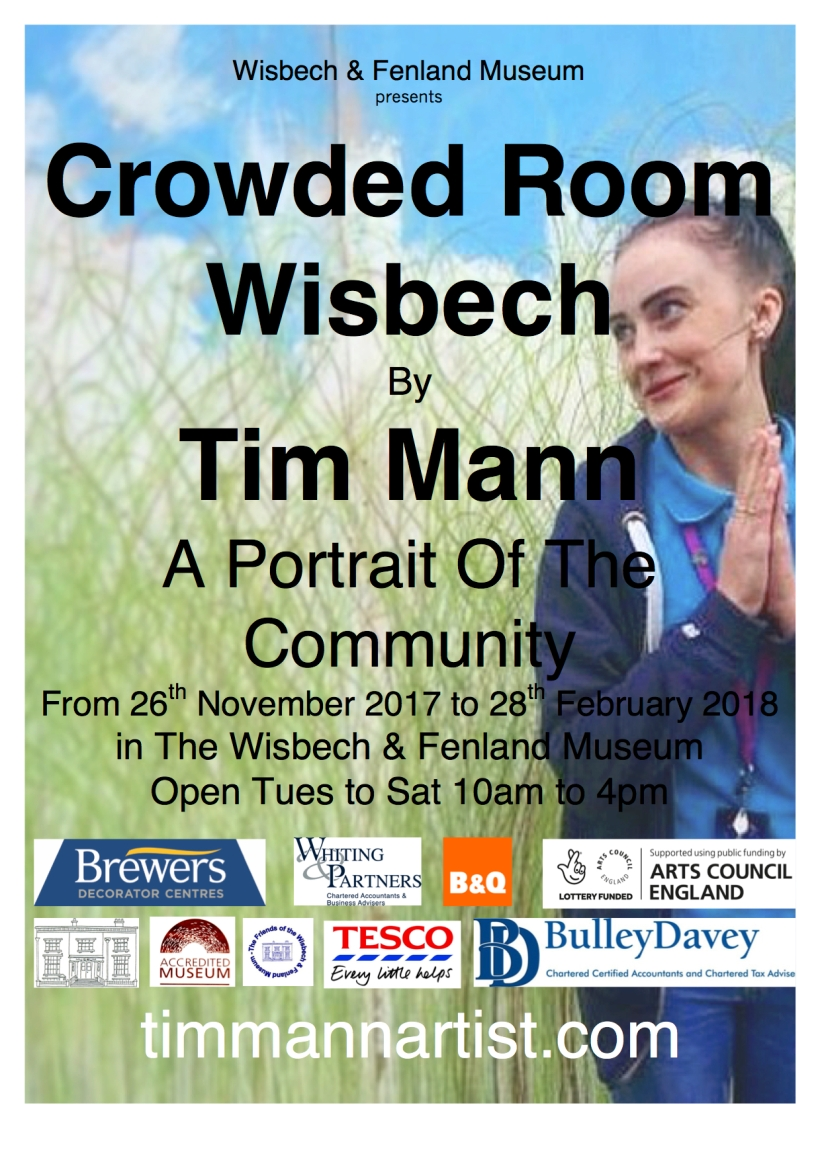 crowded room exhibition poster