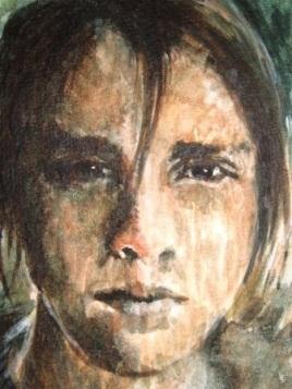 Portrait of Emily, Tim Mann, watercolour on paper 2007