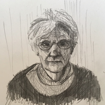 Portrait of my Mother, pencil on paper, 2019