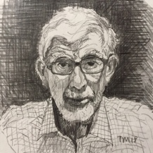 Portrait of my Father, Tim Mann, Pencil on paper 2018